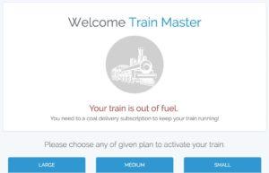 TrainRider using Laravel Cashier & Stripe