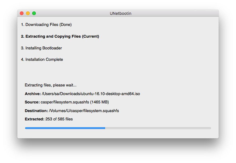 Ubuntu UNetbootin installation on USB
