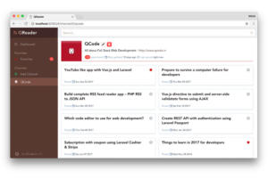 QReader feed reader app on vuejs & vuex