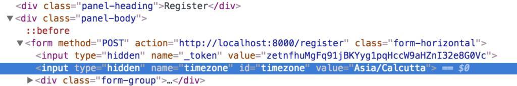 timezone input
